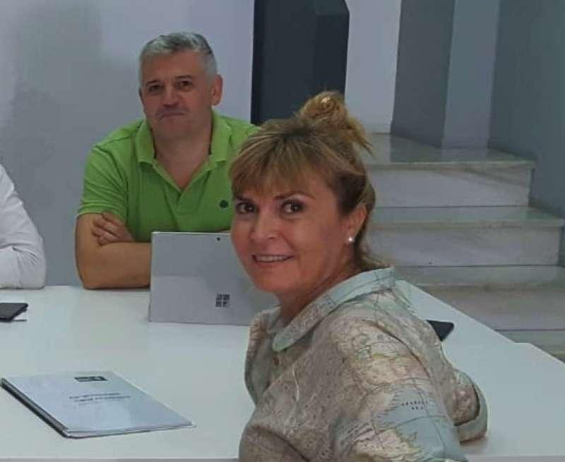 Susana Ros junto a Germán Renau. EPDA