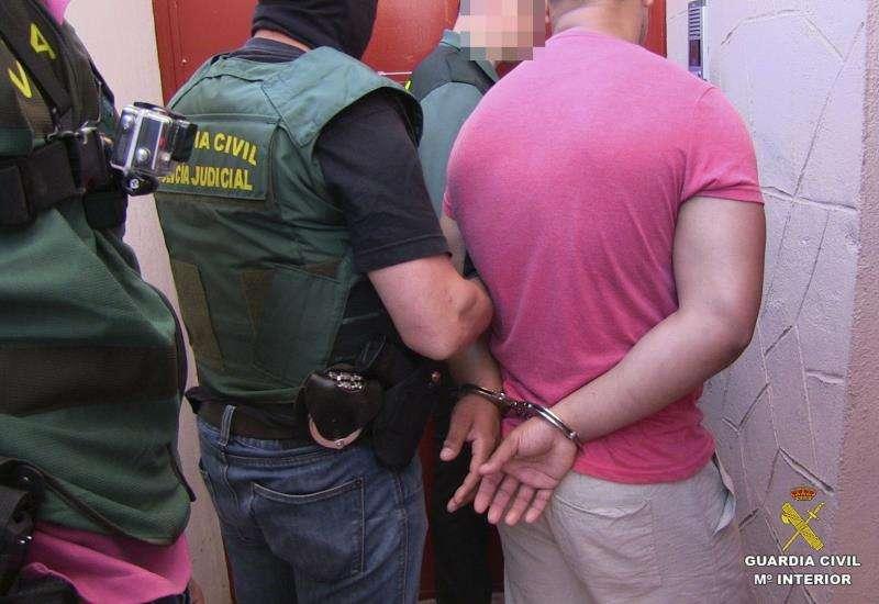 La Guardia Civil, en una operación policial.