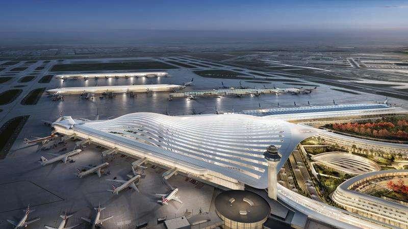 Fotograf�a divulgada este jueves por la Alcald�a de Chicago donde se aprecia la propuesta del arquitecto espa�ol Santiago Calatrava para la renovaci�n del aeropuerto internacional O