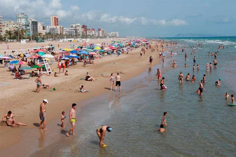 La playa de Gandía. EFE/Natxo Francés/Archivo