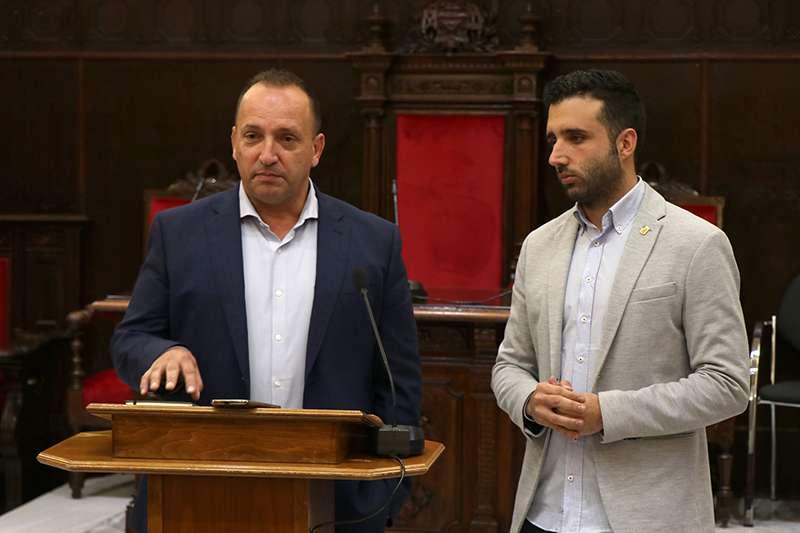 El vicepresidente segundo de la Generalitat Valenciana, Rubén Martínez Dalmau, y el alcalde de Sagunt, Darío Moreno. EPDA