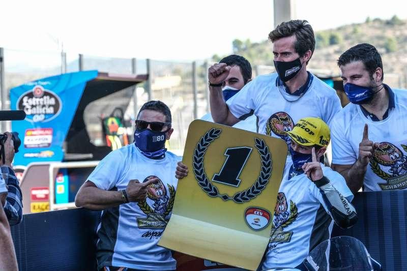 David Alonso con Nico Terol