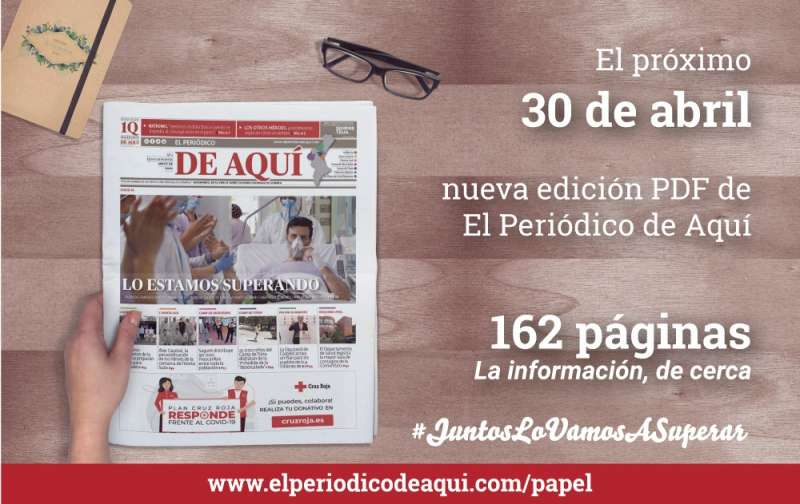 El jueves 30 de abril, un periódico gratis de 162 páginas.
