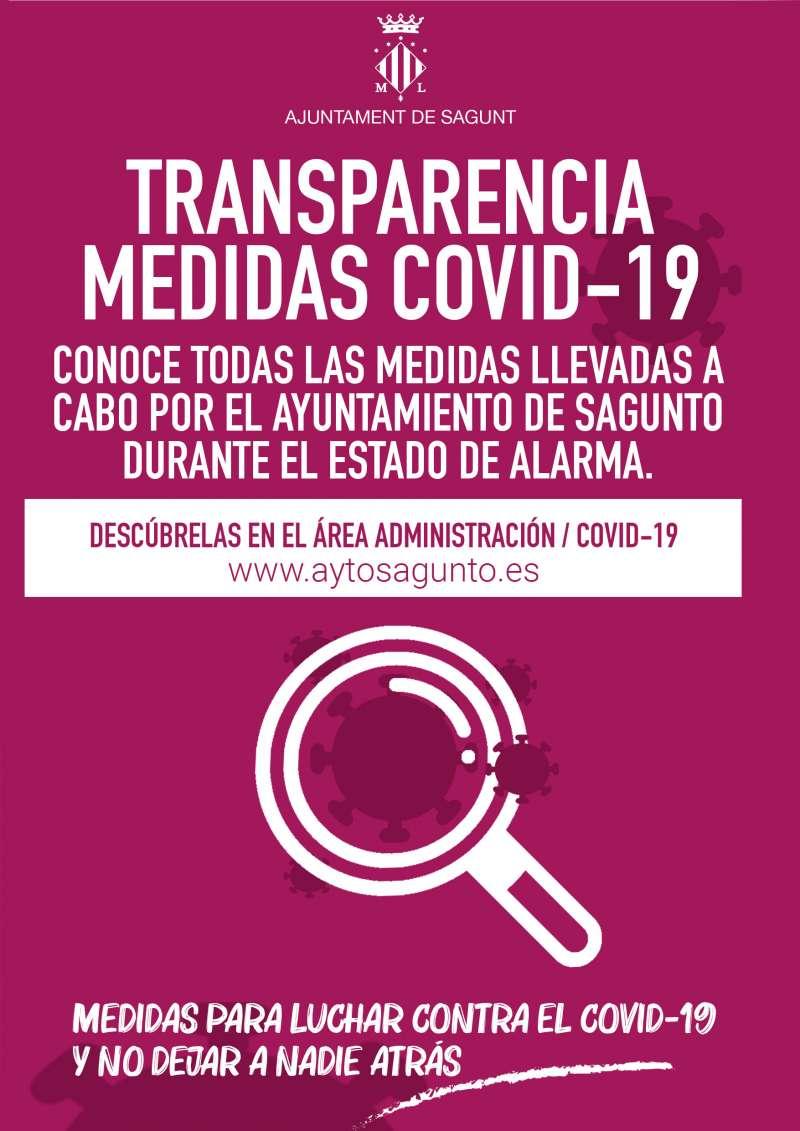Transparencia recoge en un apartado de la web todas las medidas.