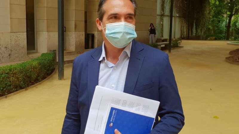 El portavoz de Economía del Grupo Popular en Les Corts, Rubén Ibáñez. EPDA
