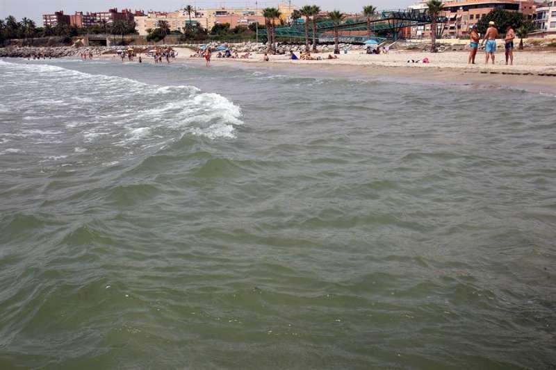 Vista de la playa de San Gabriel al sur de la ciudad de Alicante, una de las galardonadas por Ecologistas en Acción con sus simbólicas 48 banderas negras. EFE