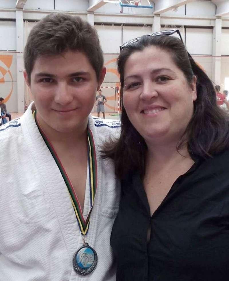 Maxi López amb la seua entrenadora.