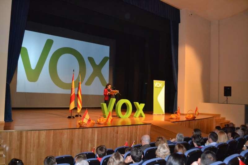 Representante de Vox Sagunto en su intervención. EPDA