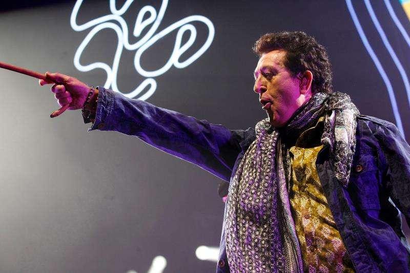 El cantante Manolo García durante un concierto. EFE/Archivo