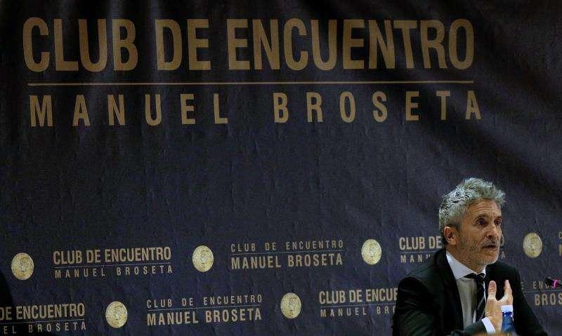 El ministro del Interior, Fernando Grande-Marlaska, en el Club Manuel Broseta