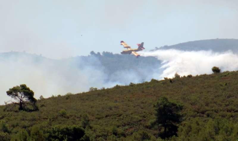 Incendio en la Calderona en junio de 2017