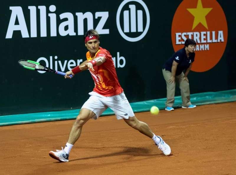 David Ferrer durante la final de la ATP Champions Tour Legends Cup del pasado mes de octubre. EFE/Archivo