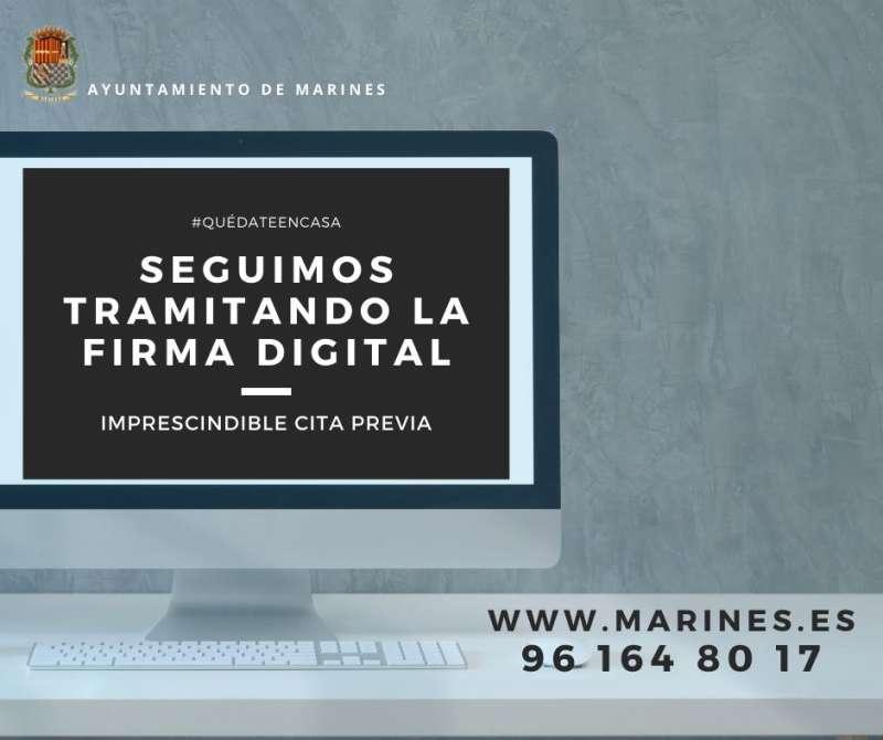 Cartel informativo para obtener la firma digital. / EPDA
