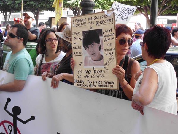 Varios manifestantes. FOTO EPDA