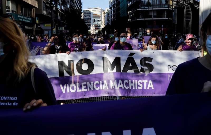 La Coordinadora Feminista en una manifestación contra la violencia machista en junio. EFE