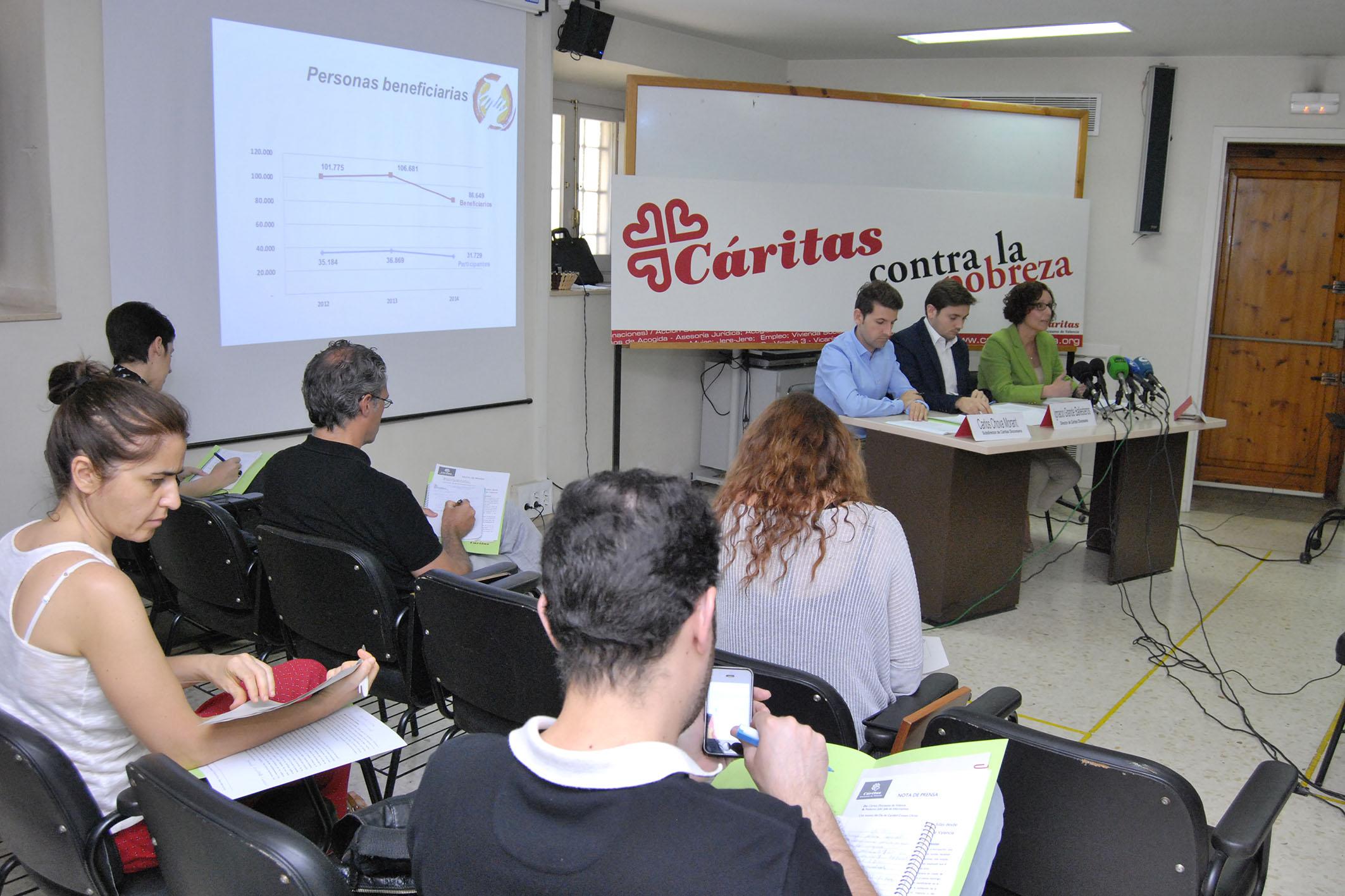 Durante la rueda de prensa ante los medios de comunicación. Foto: I. Miñana.