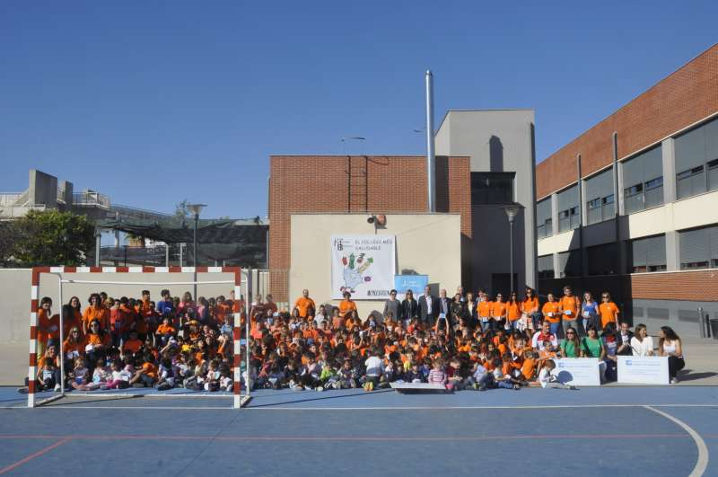 Imagen de archivo de la segunda edición del concurso escolar de hábitos de vida saludables organizado por el Hospital de Manises.