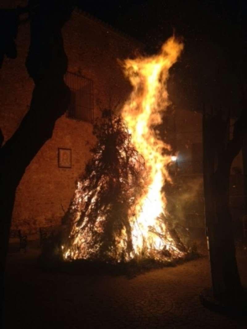 Imagen archivo de una hoguera extraída de la web del Ayuntamiento. -EPDA