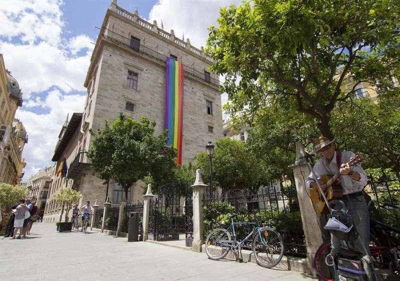 Imagen de la fachada del Palau de la Generalitat. EFE/Archivo/Miguel Ángel Polo.