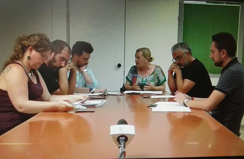 Reunión celebrada esta mañana en Paterna. EPDA