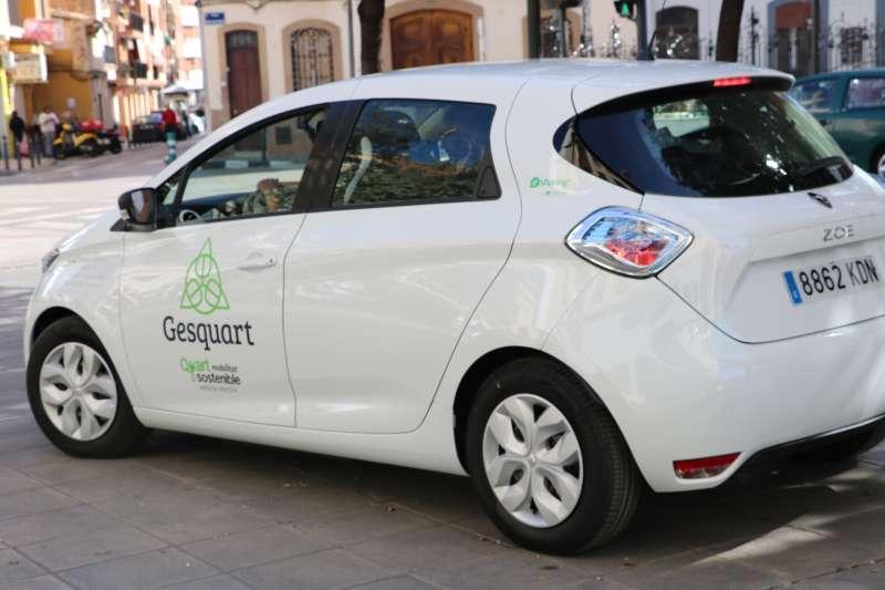 Vehículo del servicio especial de limpieza potenciado por el Ayuntamiento de Quart del Poblet. EPDA
