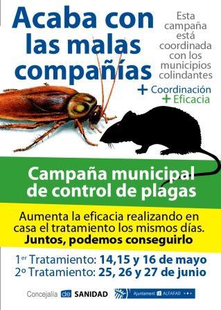 Alfafar alfafar inicia una nueva campa a de control de plagas for Control de plagas badajoz