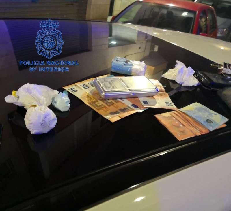 Intervención de la Policía Nacional en València.