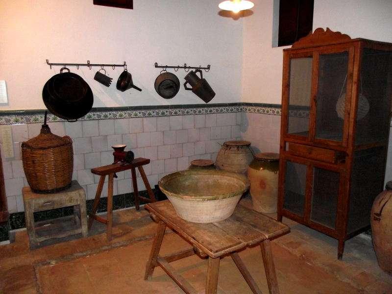 Cuina antiga al Museu Comarcal de l