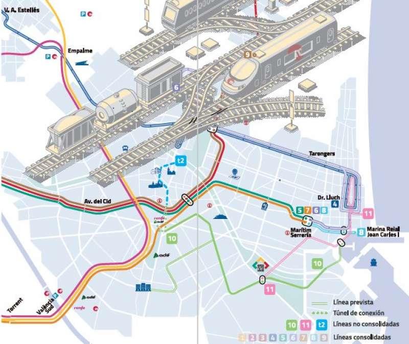 Nuevas líneas de Metrovalencia. EPDA