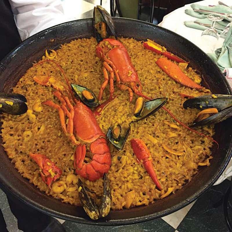 Paella de restaurante El Palmar. EPDA