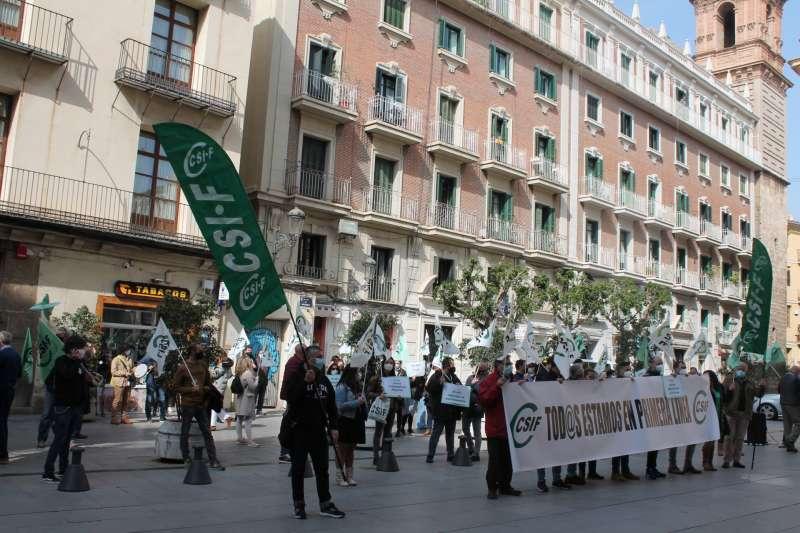 Imagen de la protesta.