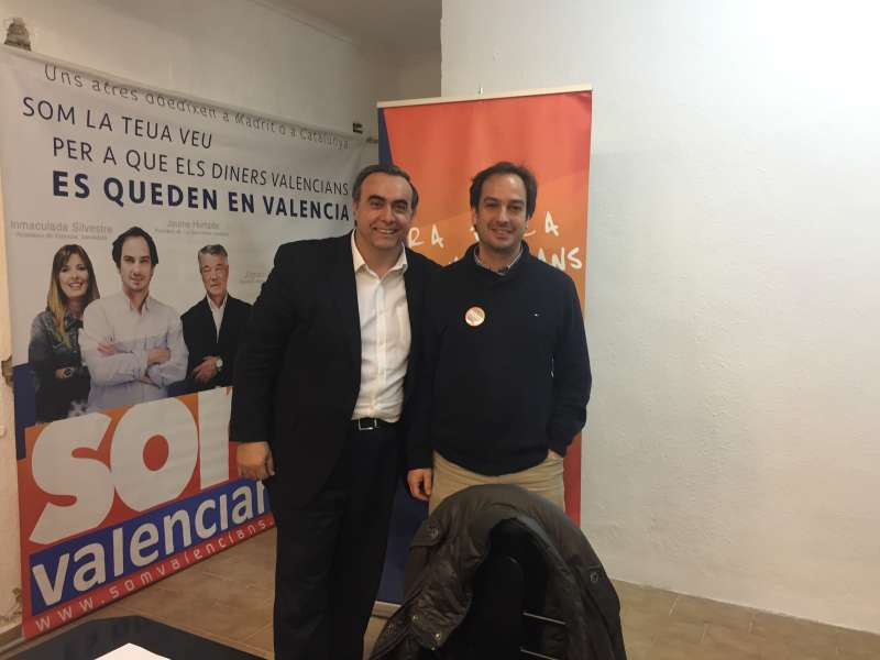 Juan Carlos Galindo y Jaume Hurtado, de Som Valencians. FOTO EPDA