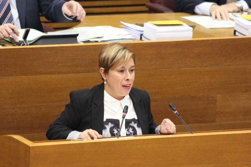 La portavoz de Igualdad y Educación de Ciudadanos (Cs) en Les Corts valencianas, Merche Ventura.