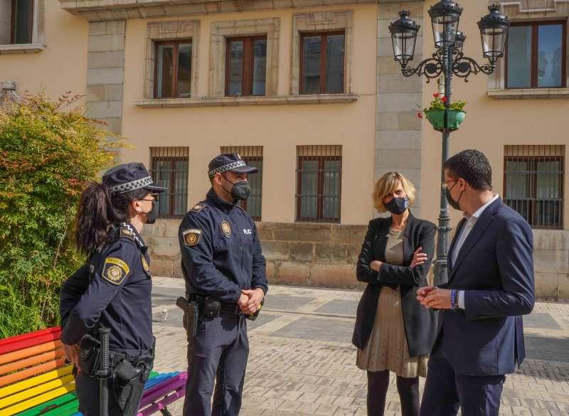 Donate i Ruiz en el curs de la Policía Local/EPDA