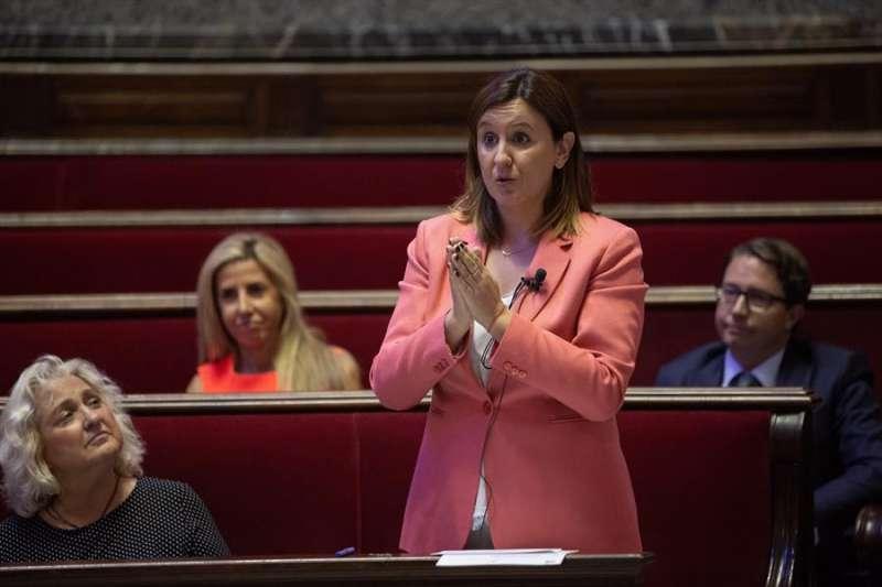 La portavoz de PP en el Ayuntamiento de València, María José Catalá, durante un pleno donde. EFE/Biel Aliño/Archivo