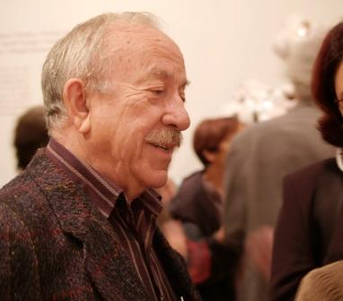 Arcadi Blasco en la inauguración de la exposición La cerámica y su integración en el arte en el Museo Nacional de Cerámica en 2006. Foto Archivo Museo Nacional de Cerámica