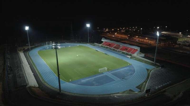 La ciudad deportiva Camilo Cano de La Nucía albergará los partidos del Levante como local en lo que resta de temporada. Imagen cedida por la instalación deportiva municipal. EFE
