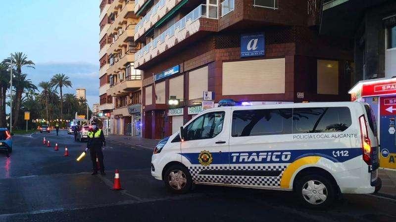 Control de la Policía Local de Alicante.