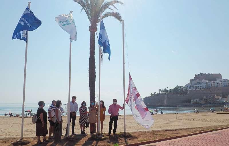 Banderas en Peñíscola. EPDA.