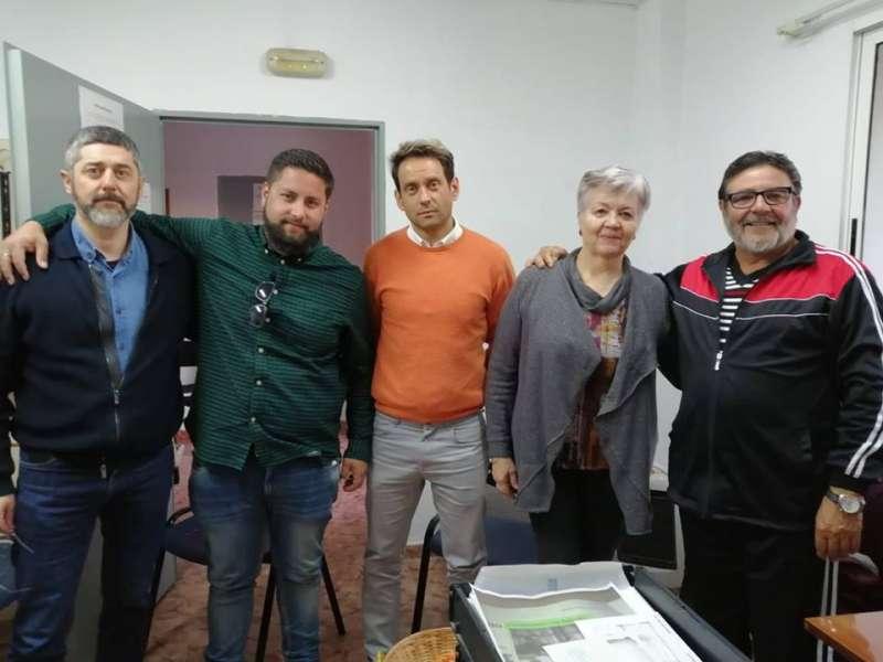 Iniciativa Porteña, Manuel González, junto a los integrantes de la candidatura Pilar Berná y Cosme Herranz./ Inicativa Porteña