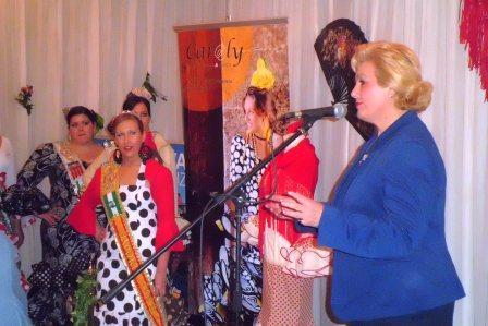 La presidenta de la Federación de Entidades Culturales Andaluzas en la Comunidad Valenciana (FECACV) Puri Torres