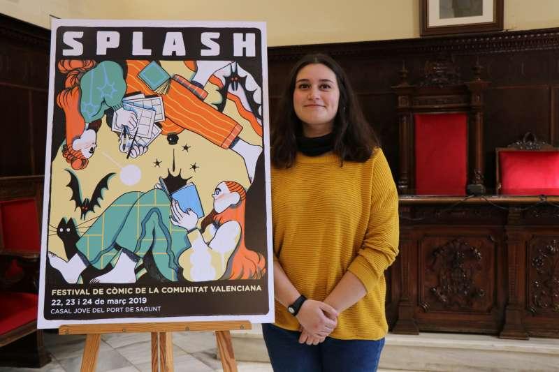 Nuria Tamarit, ilustradora del cartel.
