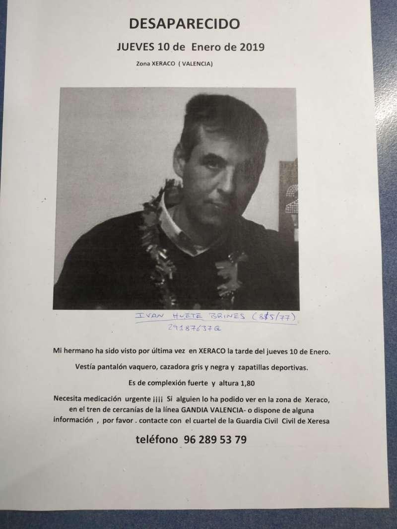 Imagen del joven desaparecido. EPDA