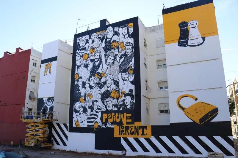 El nuevo mural de Torrent. EPDA