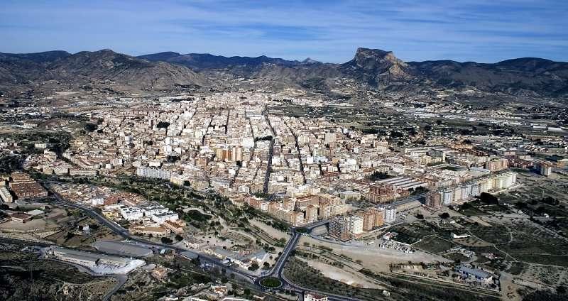 Vista general del municipio de Elda.