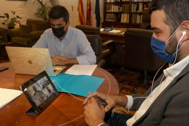 Reunión telemática con el presidente de Málaga