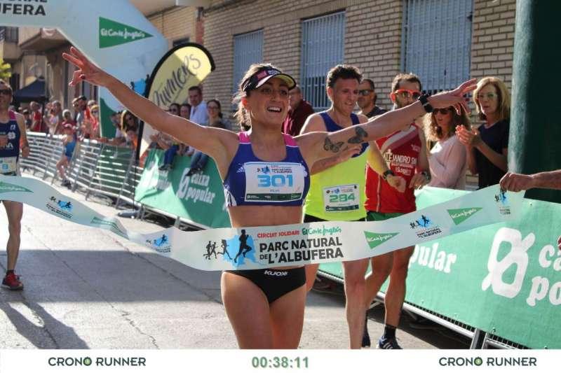 Elia Fuentes Ganadora de la carrera