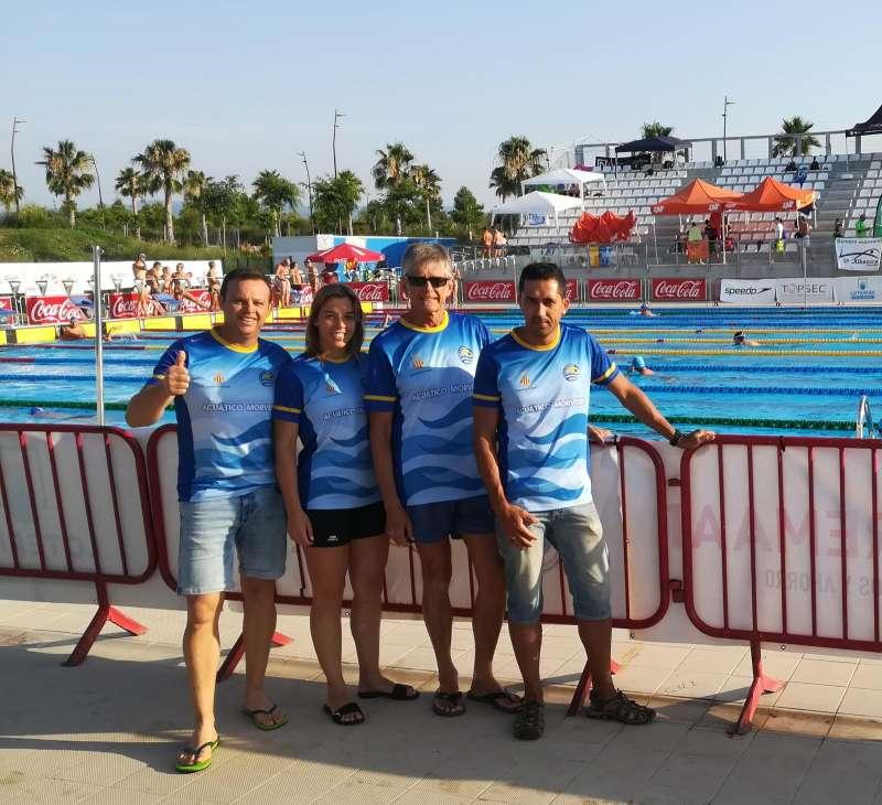 Equipo Máster del Acuático Morvedre en el campeonato Nacional celebrado en Tarragona. EPDA