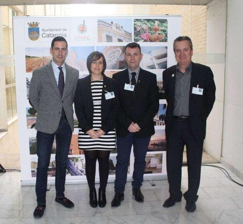 Alcalde de Catarroja, alcalde de Mislata i regidora d?Impuls Econòmic a la Jornada Empresarials.EPDA