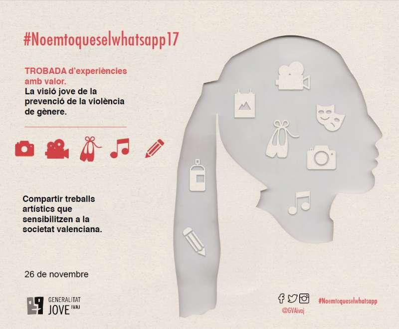 Cartel de la exposición fotográfica #noemtoqueselwhatsapp del Institut Valencià de la Joventut (IVAJ). EPDA